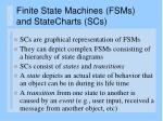 finite state machines fsms and statecharts scs
