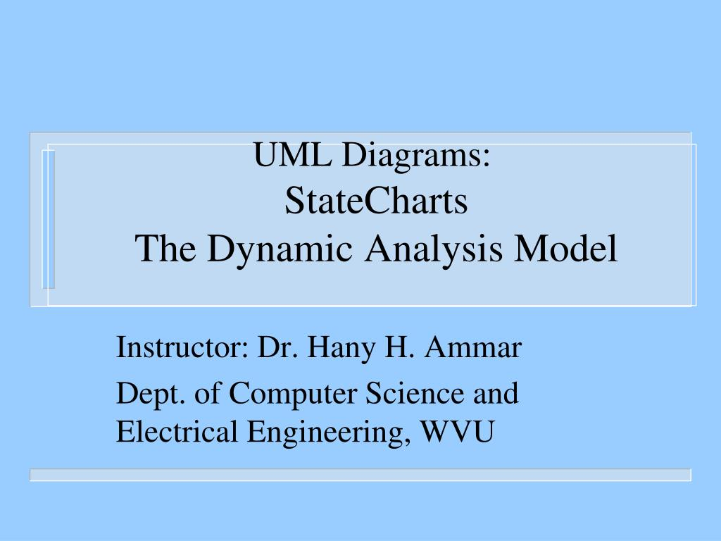 uml diagrams statecharts the dynamic analysis model l.