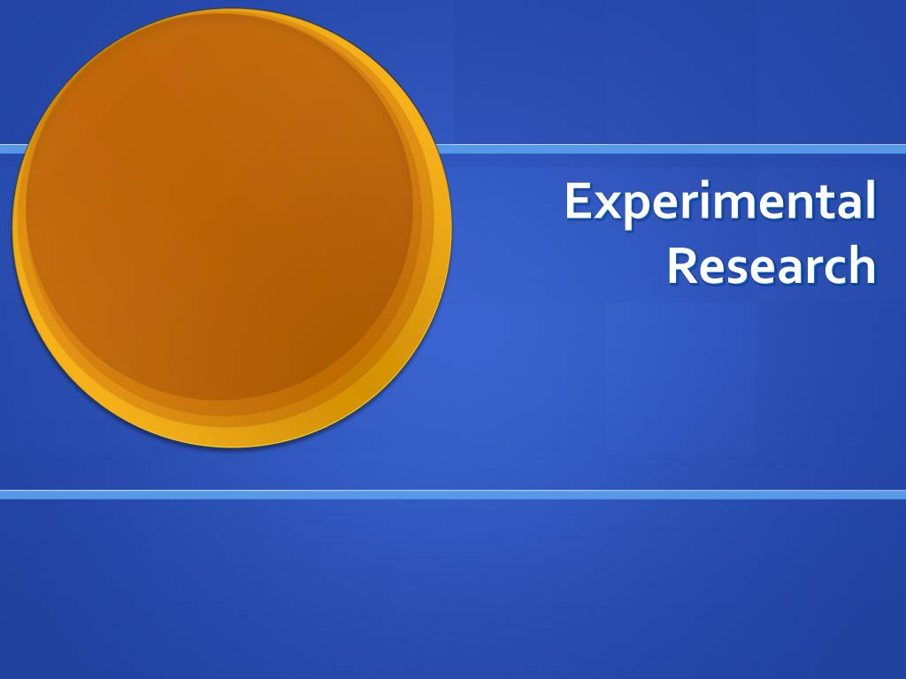 experimental research l.