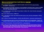 maternal and child health public health milestones 1940 1959 photo acknowledgements