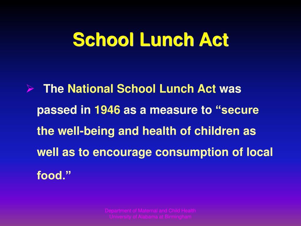 School Lunch Act