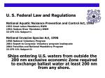 u s federal law and regulations