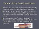 tenets of the american dream