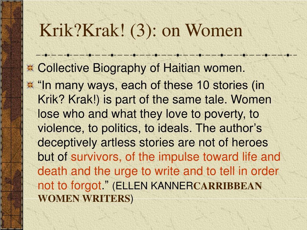 Krik?Krak! (3): on Women
