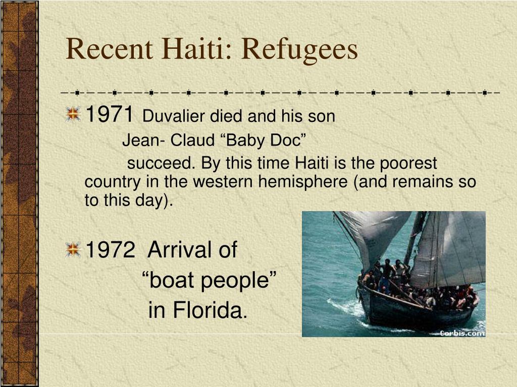 Recent Haiti: Refugees