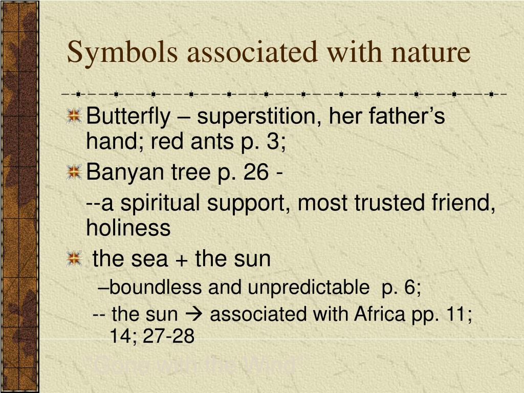 Symbols associated with nature