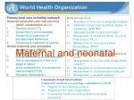 maternal and neonatal