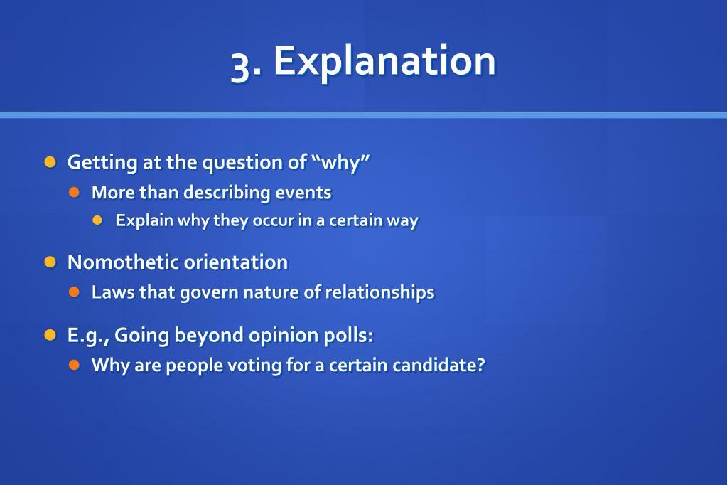 3. Explanation