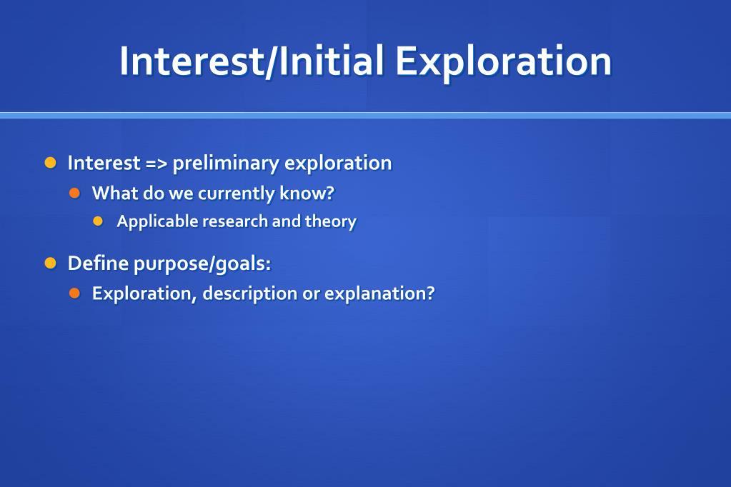 Interest/Initial Exploration