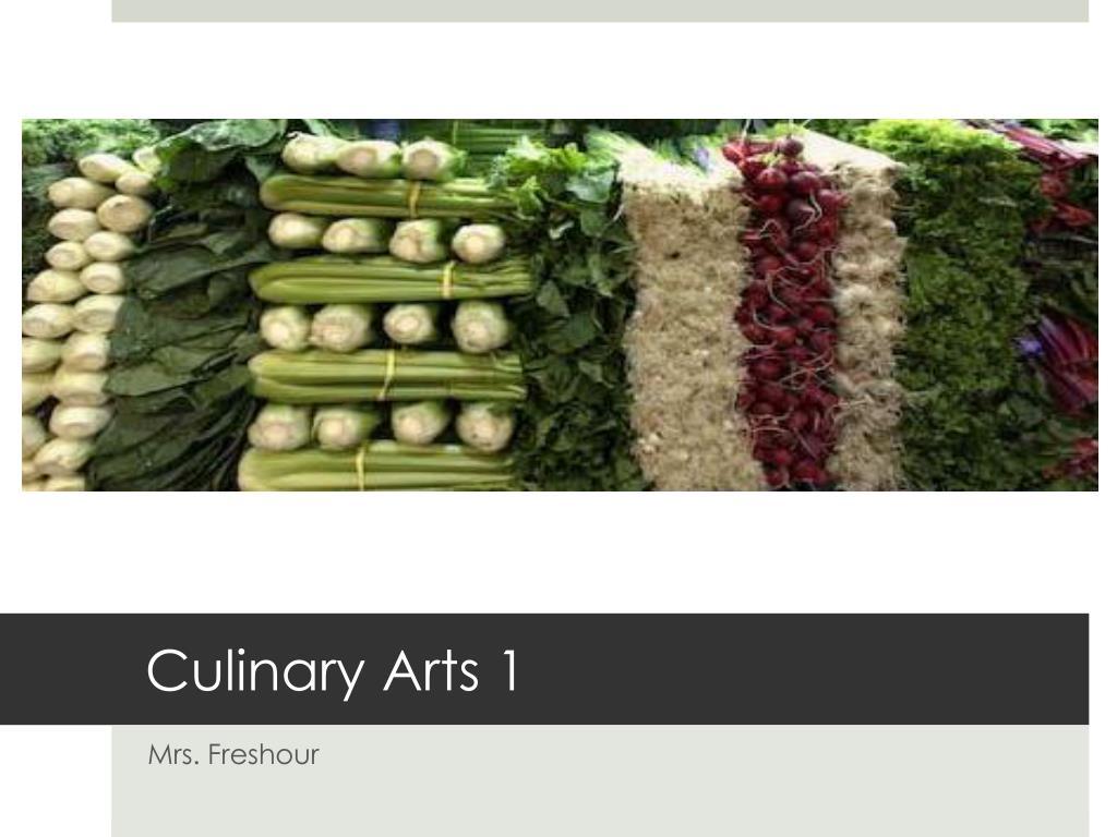 culinary arts 1 l.
