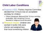 child labor conditions