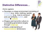 distinctive differences