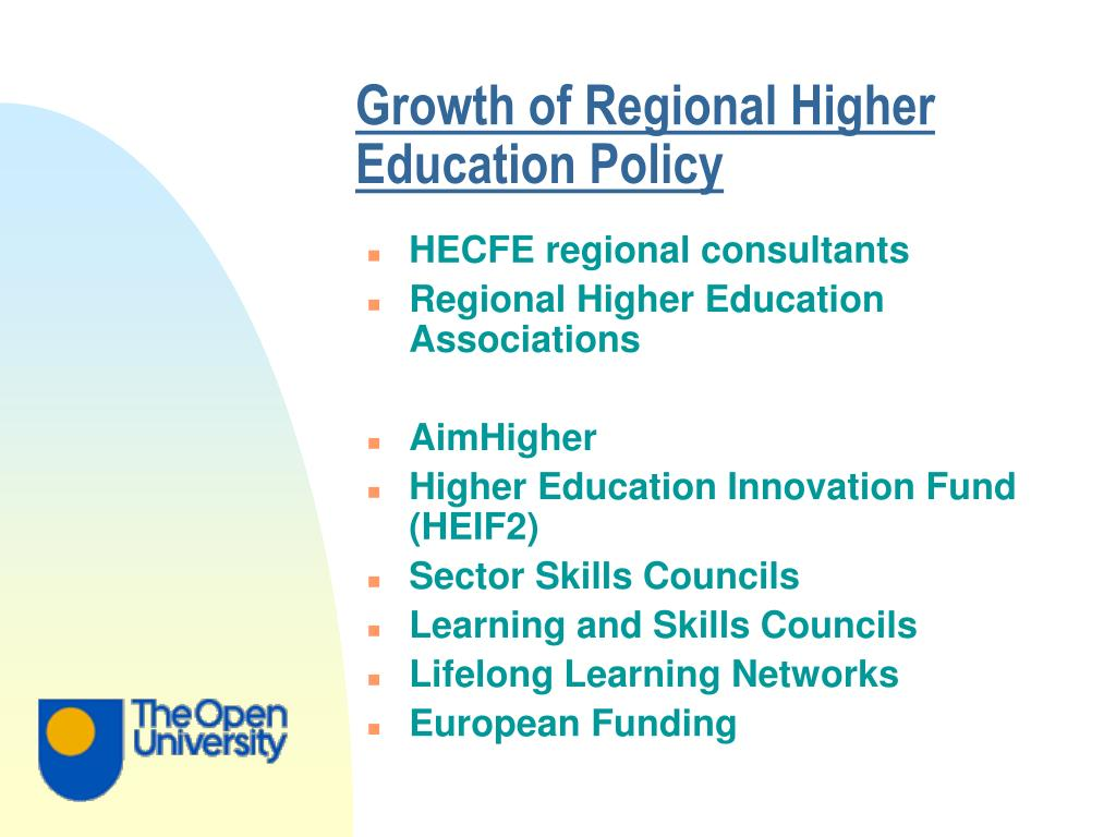 Growth of Regional Higher Education Policy