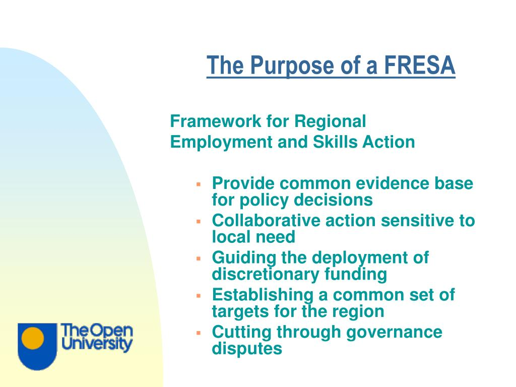 The Purpose of a FRESA