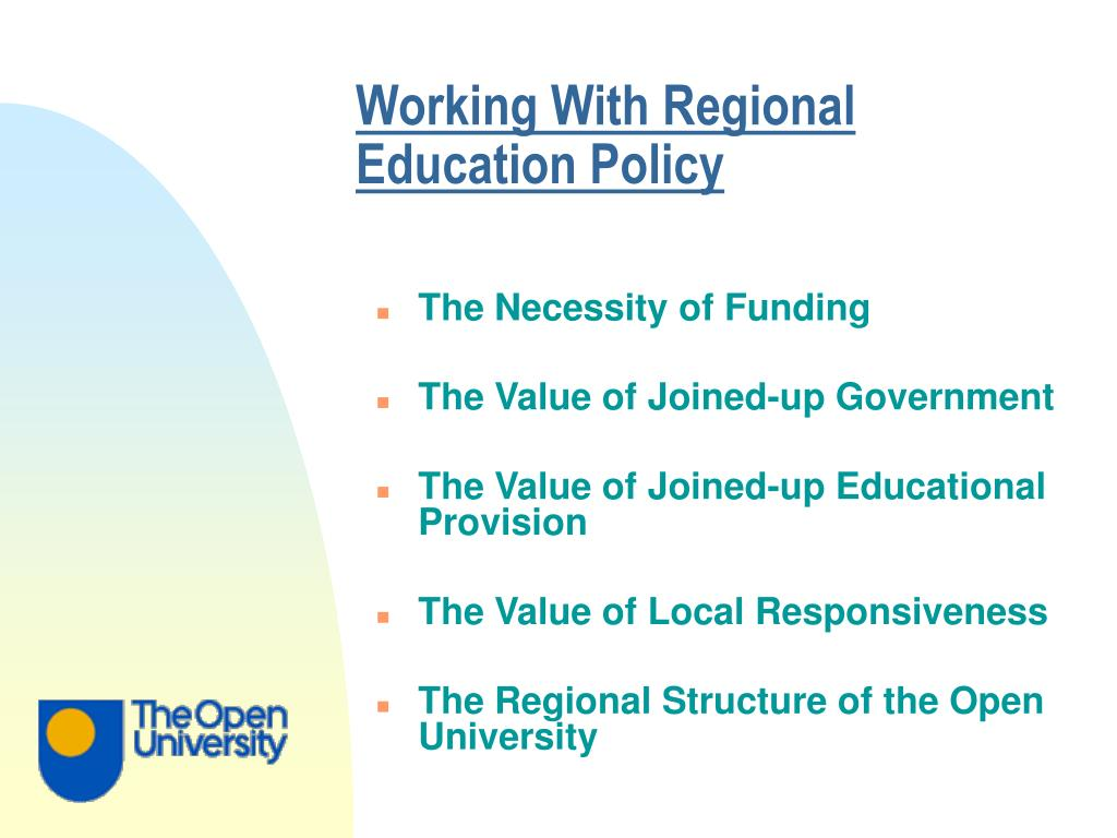 Working With Regional Education Policy