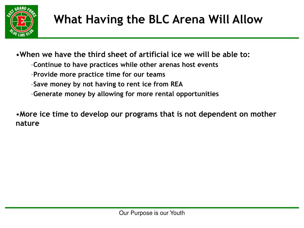 What Having the BLC Arena Will Allow