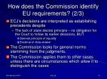 how does the commission identify eu requirements 2 3