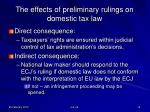 the effects of preliminary rulings on domestic tax law