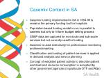 casemix context in sa