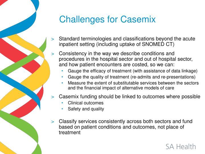 Challenges for Casemix
