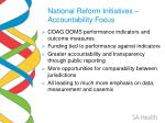 national reform initiatives accountability focus
