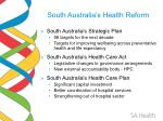 south australia s health reform