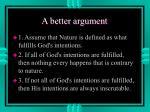 a better argument