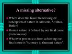 a missing alternative