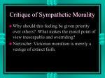 critique of sympathetic morality