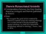 darwin resuscitated aristotle