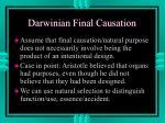 darwinian final causation