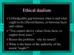 ethical dualism