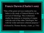 francis darwin charles s son