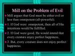 mill on the problem of evil
