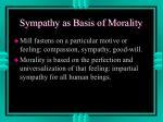 sympathy as basis of morality