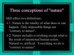 three conceptions of nature