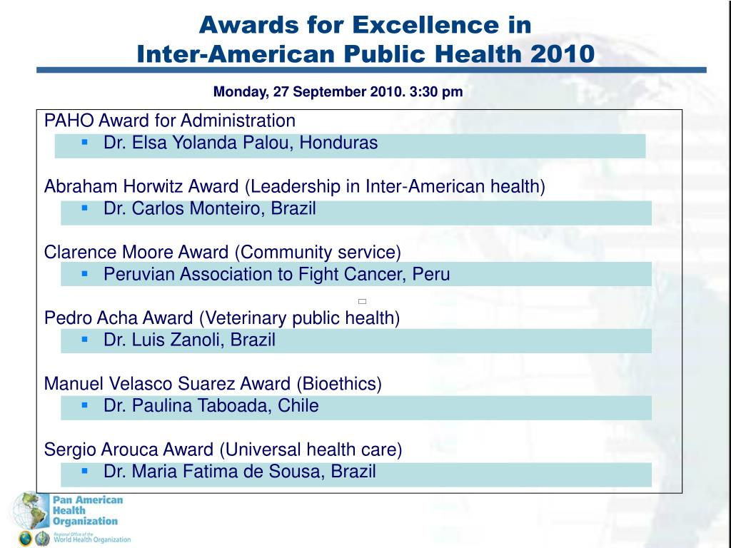 Awards for Excellence in