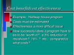 cost benefit cost effectiveness54