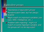 equivalent groups