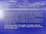 how can we as lgbt advocates participate in the process of improving health for all