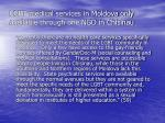 lgbt medical services in moldova only available through one ngo in chisinau