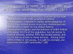 limited access to health care services for all in moldova what does that mean for lgbt