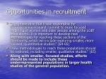 opportunities in recruitment
