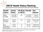 oecd health status ranking