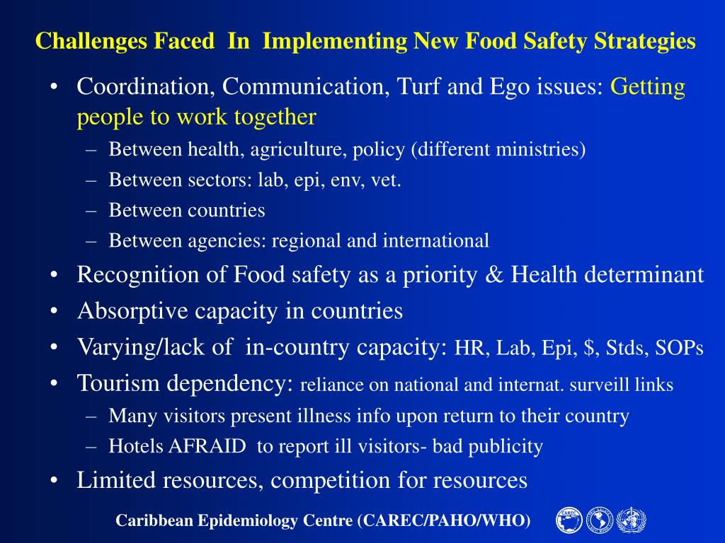 Challenges Faced  In  Implementing New Food Safety Strategies