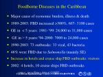 foodborne diseases in the caribbean