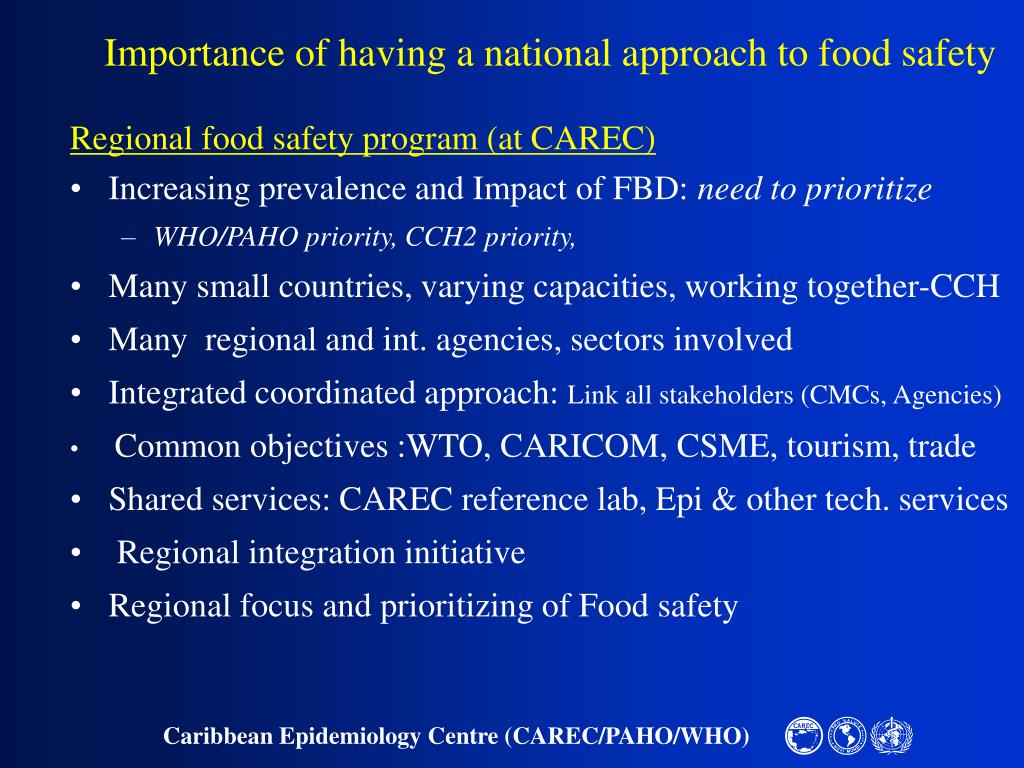 Importance of having a national approach to food safety