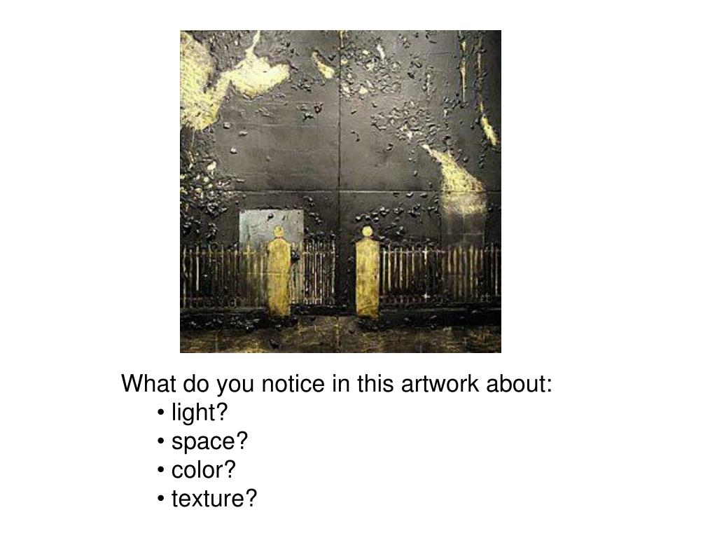 What do you notice in this artwork about: