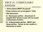 frcp 19 compulsory joinder