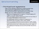 optical burst switching49